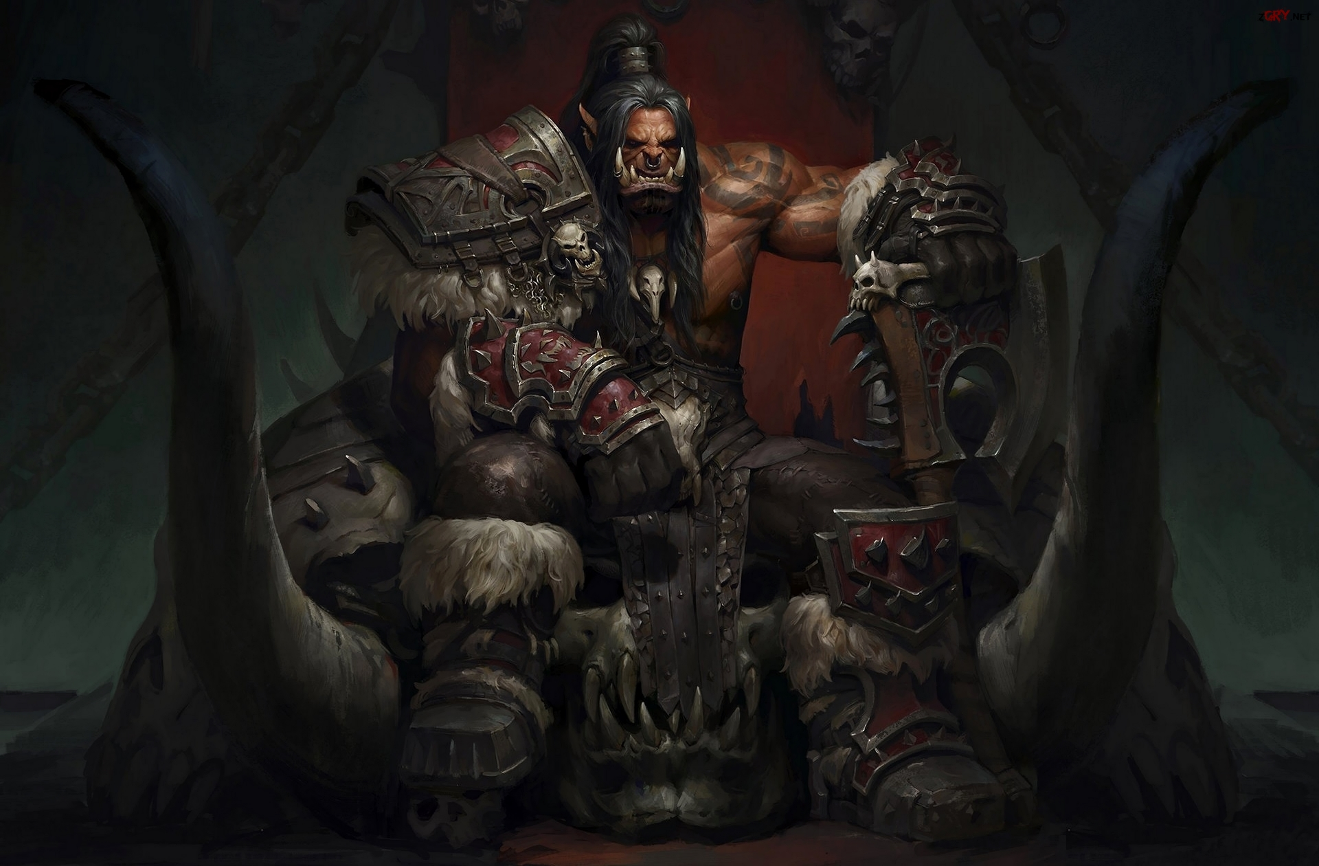 World of Warcraft: Warlords of Draenor, Ork, Grommash Hellscream, Tron